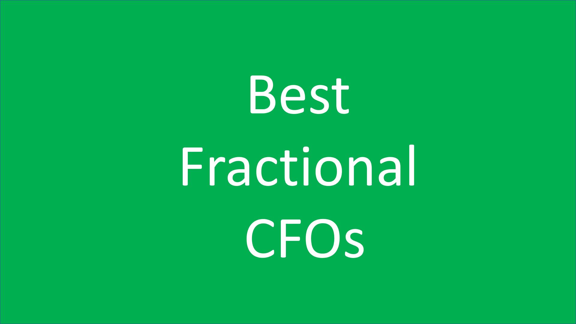 Best Fractional CFO