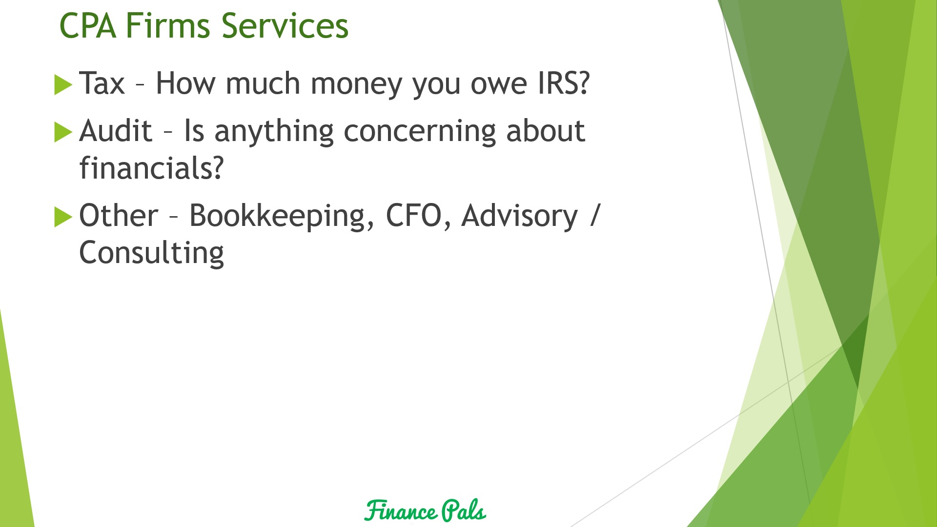 CPA Firm Services